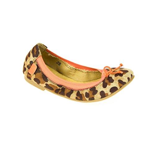 Move Kinder Ballerina Braun Rosa Leopardmuster