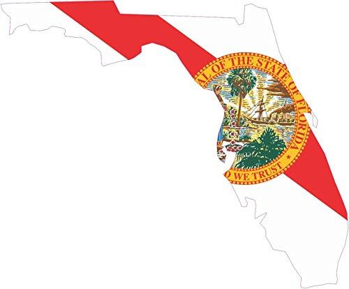 - StickerTalk 4.5in x 4in Die Cut Florida State Flag Bumper Sticker Vinyl Flag Decals