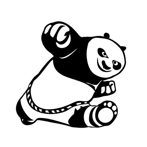 Kung Fu Panda Decal Vinyl Sticker|Cars Trucks Walls Laptop|BLACK|5 In|KCD459 - Tai Lung Costume