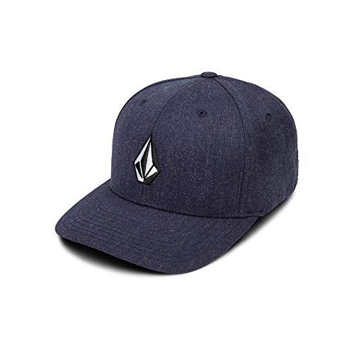 Volcom Men's Full Stone Xfit Flex Fit Hat,  Navy Heather, Large/X-Large