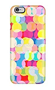 Premium Durable Bright Colorful Circles Pattern Fashion Tpu Iphone 6 Plus Protective Case Cover