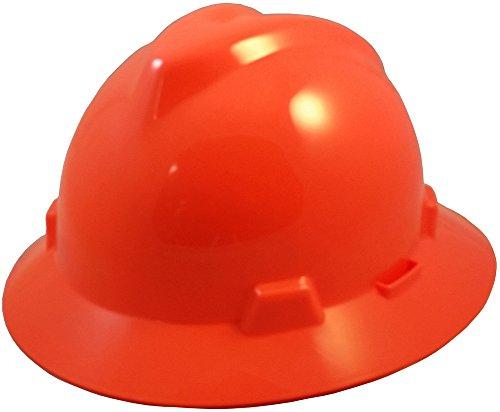 Msa 10058326 V Gard Hat With 1 Touch Suspension  Hi Viz Orange