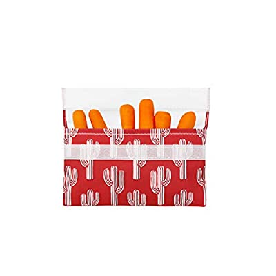 Lunchskins LS2-CACTUS-RED Reusable Snack Food Bag, Red Cactus: Kitchen & Dining