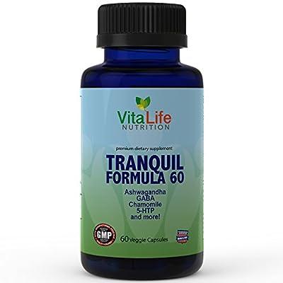 Anxiety, Stress & Panic Attacks Relief Supplements - Anti-anxiety Formulas with Ashwagandha, Folic Acid, Vitamin B12, GABA and More - For Enhance Mood and Improve Sleep