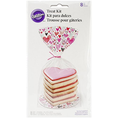 Wilton 1912-5327 8 Count Valentine's Day Doodles Cookie Treat Kit, Assorted