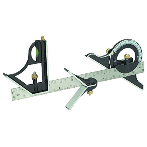 12'' Combination Tri Square Set Angle Finder & Protractor Level SAE & Metric