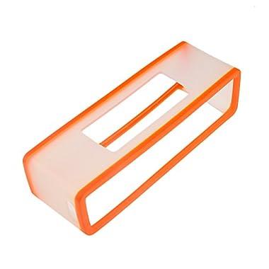 Yifan TPU Silicone Protective Case Cover Box for BOSE SoundLink Mini II 2 Bluetooth Speaker - Orange + Transparent