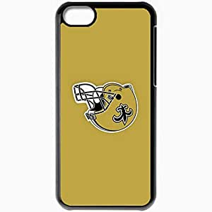 Personalized iPhone 5C Cell phone Case/Cover Skin Nfl New Orleans Saints 4 Sport Black