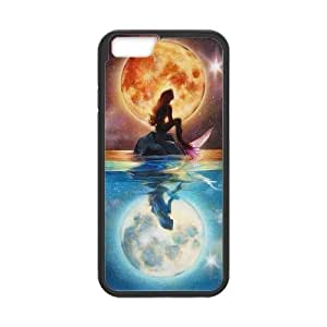 LeonardCustom- The Little Mermaid Princess Ariel Protective Hard Rubber Coated Cover Case for iPhone 6 4.7