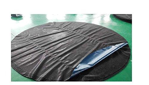 Down Under Black/Blue Solar Cover - 16x32 Oval Pool - 120 Grade - Premium Solar Heater Blanket (Black Solar Pool Cover)