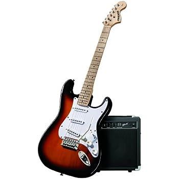 fender starcaster strat electric guitar bundle. Black Bedroom Furniture Sets. Home Design Ideas