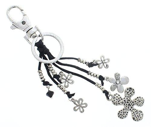 Flower Charm Dangles Key Chain Fob Phone Purse Charm ()
