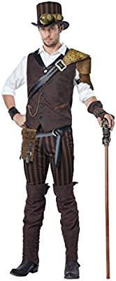 Steampunk Adventurer Man Adult Costume: Amazon.es: Juguetes y juegos