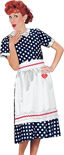 Fun World Women's Licensed I Love lucy Polka Dot Dress, Size S/M 4-6