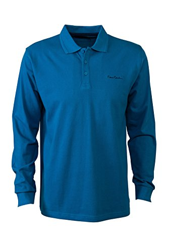 pierre-cardin-mens-new-season-long-sleeve-classic-fit-premium-polo-t-shirt-large-teal