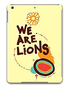 PhoenixShop Ipad Air ( iPad 5 5th Generation) Cases, We Are Lions Lightweight 3D Protective Cases For iPad Air