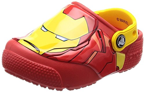 Crocs baby-boys FL Ironman Lights K Clog, Flame, 6 M US Toddler