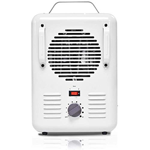 Patton Electric Thermostat Heater - Tangkula Electric Heater, 1500W Home Office Portable Quartz Heater with Adjustable Thermostat and Easy-Carrying Handle, Tip-Over and Overheating Protection, Mini Table Heater, White