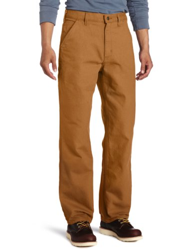 Carhartt Men's Big & Tall Washed Duck Work Dungaree,Carhartt Brown,54 x 32
