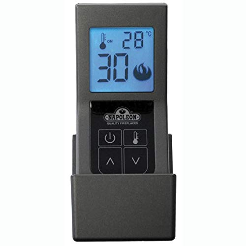 Napoleon F60 Fireplace Remote Control, Thermostat Control Battery Operated w/Digital Screen