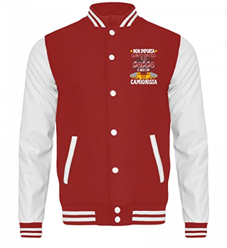 Bambini Nonno College Per white Giacca Camionista Sudore Camicia Red Fire Shirtee 1twcEqyWFS