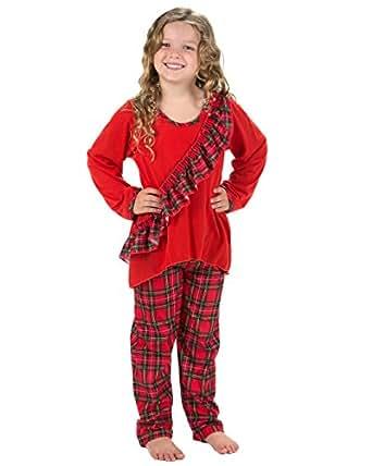 Amazon.com: Laura Dare Little Girls Holiday Tartan Plaid ...