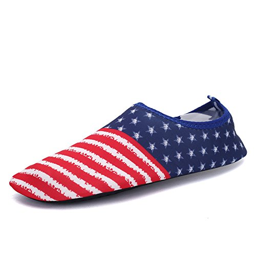 Men Women Water Shoes Quick Dry Lightweight Barefoot The Fourth of July Shoes For Beach Swim Surf Yoga Exercise from iEase