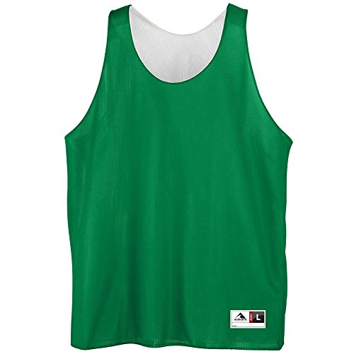 Youth Reversible Mini Mesh League Tank - KELLY WHITE SMALL by Augusta Sportswear