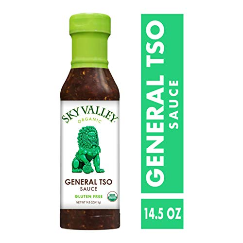 Sauce Organic Asian (Sky Valley General Tso Sauce; 14.5 oz. (411 g); Certified Organic, Vegan, Gluten Free and Non-GMO; Perfectly Spicy and Sweet Organic Tamari, Garlic and Ginger Blend for Authentic, All-Natural Flavor)