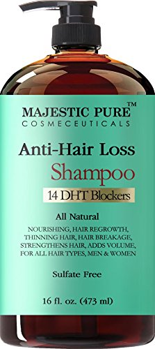 Hair Loss Shampoo For Men Women From Majestic Pure Offers Natural Ingredient Based Effective Solution Add Volume And Strengthen Hair Sulfate Free 14 DHT Blockers 16 Fl Oz