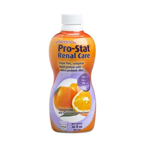 Pro-Stat with Renal Care, Sugar Free with Fiber, Tangerine - 30 Oz Bottle (Pack of 6) by Nutricia