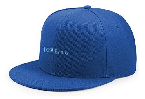 Sky Wear Tom Player Brady Blue Embroidery Adjustable Snapback Baseball Cap Hip Hop Hat Sapphire Blue