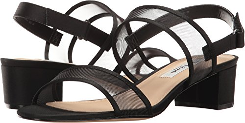 NINA Women's Ganice Dress Sandal, YM-a-Black, 8.5 M US