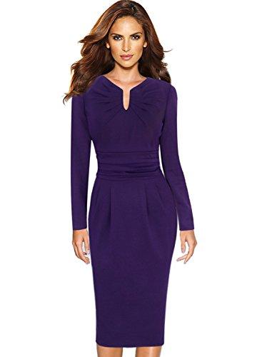 Drape Neck Sheath Dress - 3