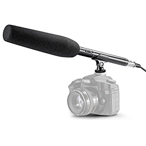 Neewer 14.17inch/36cm Uni-Directional Shotgun Mono Microphone for Camcorder and DSLR Camera