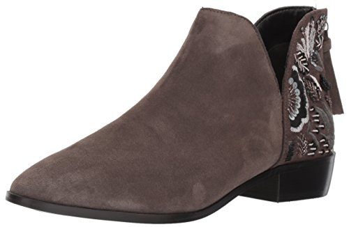 Cole Sandals Suede Kenneth (Kenneth Cole REACTION Women's Loop Here We Go Ankle Bootie with Embellished Heel, Pencil, 6 M US)