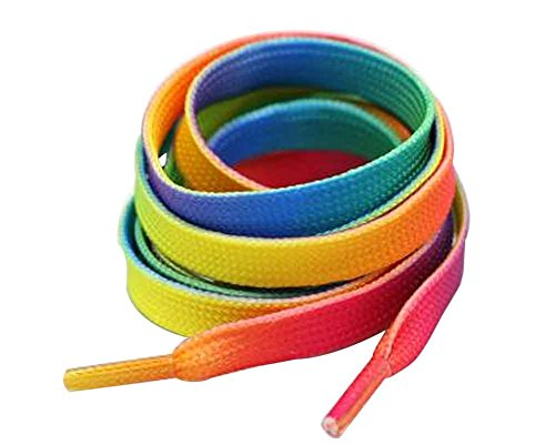 Double 10 multicolor Sided Blancho Shoelaces Yarn Shoelaces Silk Snow Double p4dPZnFq6