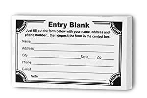 Amazon.com : Marketing Holders Entry Form Pads for Raffles ...