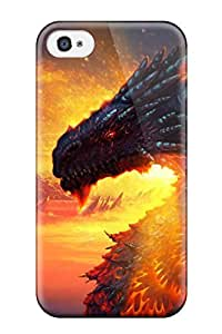 popular 9310956K31931830 Case Cover Skin For Apple Iphone 5/5S Case Cover (dragon Under Sunset)