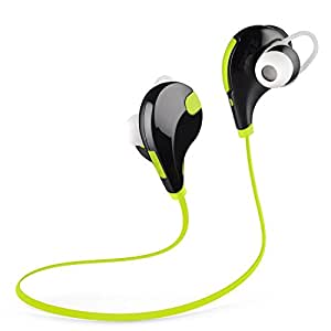 Bluetooth Headphones Bienna Wireless Sport Running [Waterproof] [Sweatproof] Stereo Noise Cancelling Earbuds Headsets Earphones with Mic for IPhone Android IPad Laptop(Bluetooth 4.0+EDR)-Green