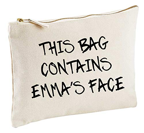 (Personalised This Bag Contains My Face Natural Make up Bag Gift Present Idea Cosmetics Bag Toiletries)