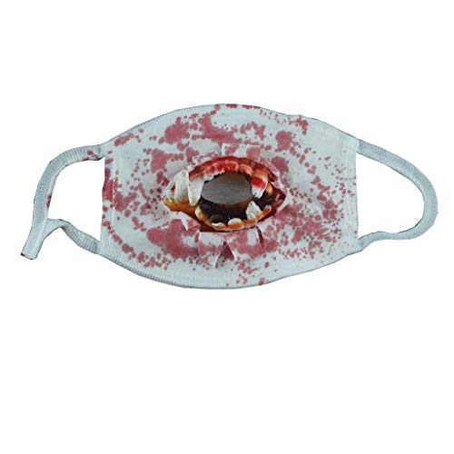 Yeefant Mask Props Halloween Scary Horror Mouth Mask Face Fancy Teeth Zombies Bloody Horrific Gift Terror Tooth Mask 18cmx12.5cm