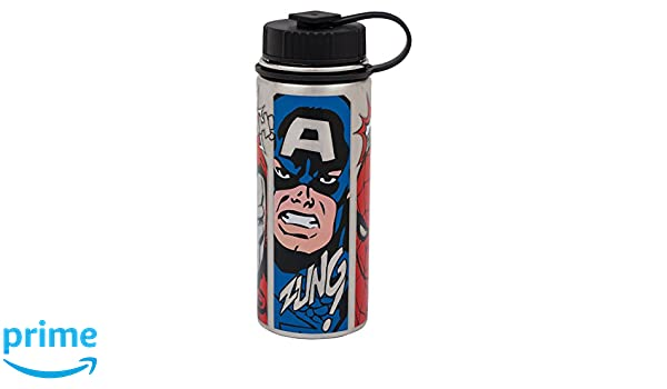 Vandor Marvel Comics 18 Ounce Vacuum Insulated Stainless Steel Water Bottle (26109)