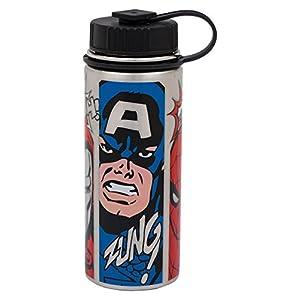 Vandor-Marvel-Comics-aislado-al-aspiradora-botella-de-agua-de-acero-inoxidable