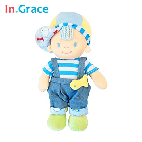 [In.Grace 2016fashion cute baby toys baby stuffed sleeping calm dolls with fish baby kawaii plush born dolls with hat 30CM] (Sally From Cars Costume)