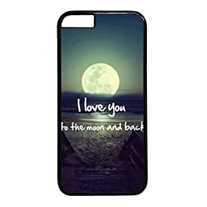 I Love You To The Moon And Back Characteristic Quote Theme Iphone 6 Case (4.7inch) by ruishername