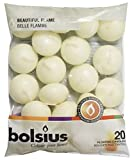 BOLSIUS Unscented Floating Candles - Set of 20 Ivory Floating Candles - Elegant Burning Candles - Candles with Nice and Smooth Flame - Party Accessories