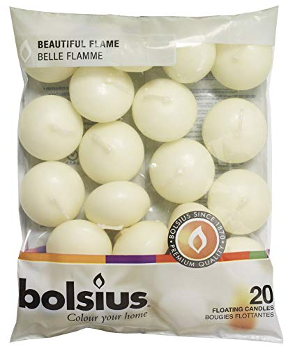 Bolsius Pack of 20 Ivory Floating Candles 1.3/4 Inch]()