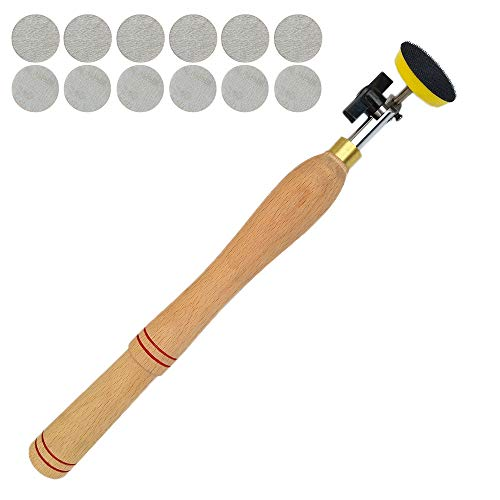 Wood Turning Lathe Sanding Tools Hand Held Bowl Sander with 13