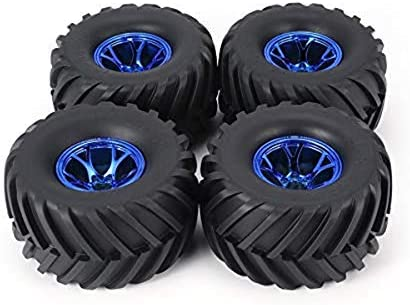 Azul SNOWINSPRING Juego de Neum/áTicos de Llanta de 4 Piezas para 1//10 RC Truck HIMOTO HSP HPI Control Remoto RC Truggy Car